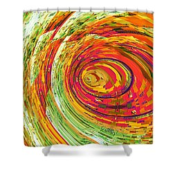 Fluorescent Wormhole Shower Curtain by Shawna Rowe