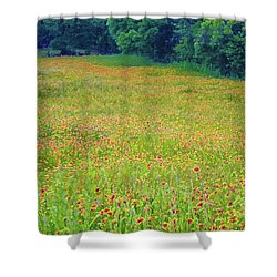 Flush With Flowers Shower Curtain