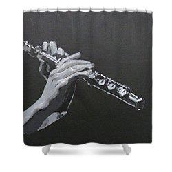Flute Hands Shower Curtain