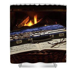 Flute Still Life Shower Curtain
