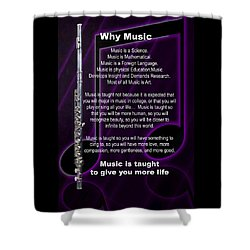 Flute Why Music Photographs Or Pictures For T-shirts 4824.02 Shower Curtain