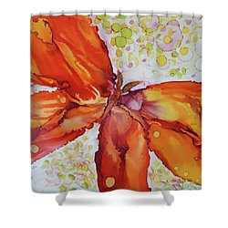 Shower Curtain featuring the painting Flutter by Joanne Smoley