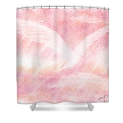 95c20c27614c3 Fluttering Love And Hope Shower Curtain