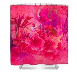 Shower Curtain featuring the painting Flower Art Pinky Pink  by Sherri  Of Palm Springs
