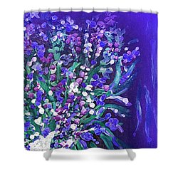 Shower Curtain featuring the painting Flower Art  Spring Flowers In A Vase by Sherri  Of Palm Springs
