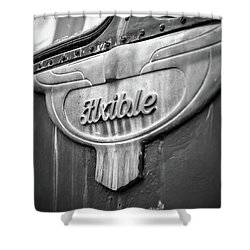Flxible Clipper 1948 Bw Shower Curtain