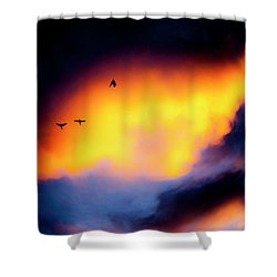 Shower Curtain featuring the photograph Fly Away by Eric Christopher Jackson