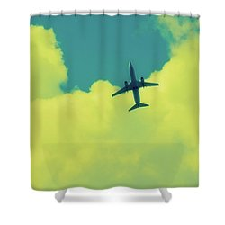 Fly Away  Without Snapshot Border Shower Curtain