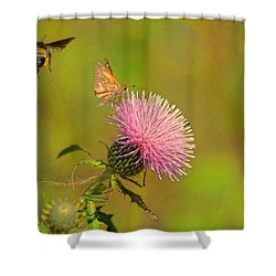 Fly By Bee Shower Curtain