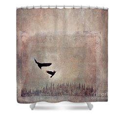Fly Dance Shower Curtain by Priska Wettstein