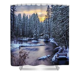 Fly Fisherman On The Metolius Shower Curtain