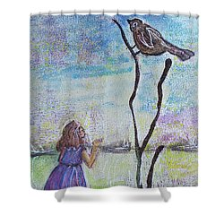 Fly, Fly Away Shower Curtain
