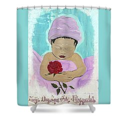 Fly Happy Unique Angel Again Shower Curtain by Talisa Hartley