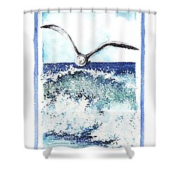 Shower Curtain featuring the painting Fly High by Heidi Kriel