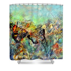 Fly Me Two The Moon Shower Curtain