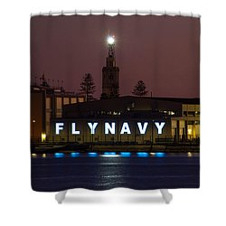 Fly Navy Shower Curtain
