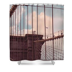 Fly Over Brooklyn  Shower Curtain