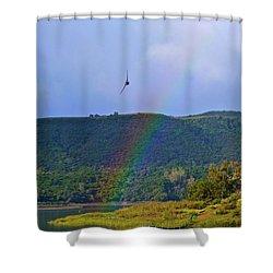 Fly Over The Rainbow Shower Curtain