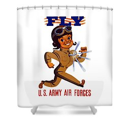 Fly - Us Army Air Forces Shower Curtain