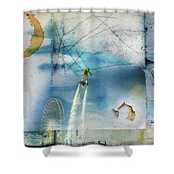 Flyboard - Freestyle Shower Curtain