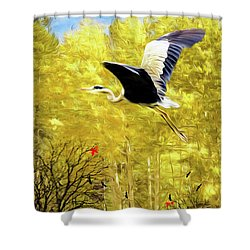 Flying Against The Wind Shower Curtain