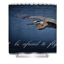 Flying Alone Shower Curtain
