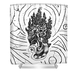 Flying Castle Shower Curtain