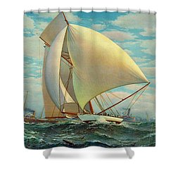 Shower Curtain featuring the photograph Flying Defender 1895 by Padre Art
