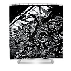 Flying Fish Shower Curtain by William Horden
