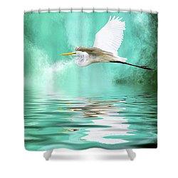 Flying High Shower Curtain by Cyndy Doty