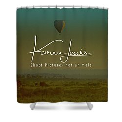 Shower Curtain featuring the photograph Flying High On The Masai Mara by Karen Lewis