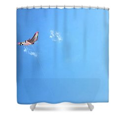 Flying In The Wind Shower Curtain