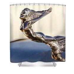Flying Lady Hood Ornament Shower Curtain by Jill Reger