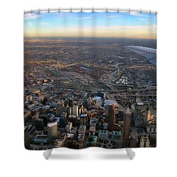 Flying Over Cincinnati Shower Curtain by Joann Vitali