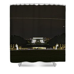 Flying Over Liberty Shower Curtain