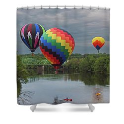 Flying Over The Androscoggin Shower Curtain
