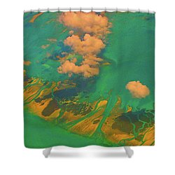 Flying Over The Keys, Florida Shower Curtain