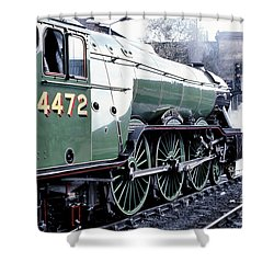 Flying Scotsman Locomotive Shower Curtain