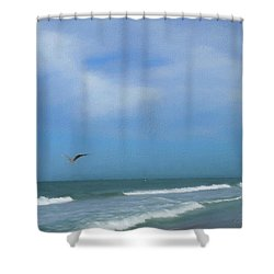 Flying Solo Shower Curtain