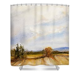 Flying South Shower Curtain by Judith Levins
