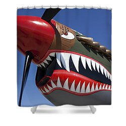 Flying Tiger Plane Shower Curtain by Garry Gay