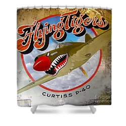Flying Tigers Shower Curtain by Alan Johnson