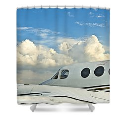 Shower Curtain featuring the photograph Flying Time by Carolyn Marshall