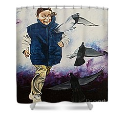 Flying With The Birds - Volar Con Las Aves Shower Curtain