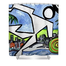 Flyingboyeee Shower Curtain by Jorge Delara
