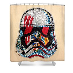 Storm Trooper Fn-2187 Helmet Star Wars Awakens Afrofuturist Collection Shower Curtain