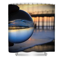 Shower Curtain featuring the photograph Foamy Ball by Lora Lee Chapman