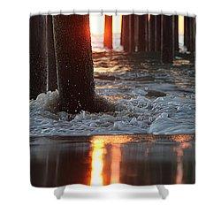 Foamy Waters Under The Pier Shower Curtain