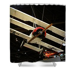 Focker Tri-plane Shower Curtain by Tommy Anderson