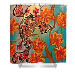 Focus Flower  Shower Curtain by Miriam Moran